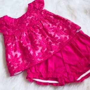 Gymboree bloomer set in hot pink